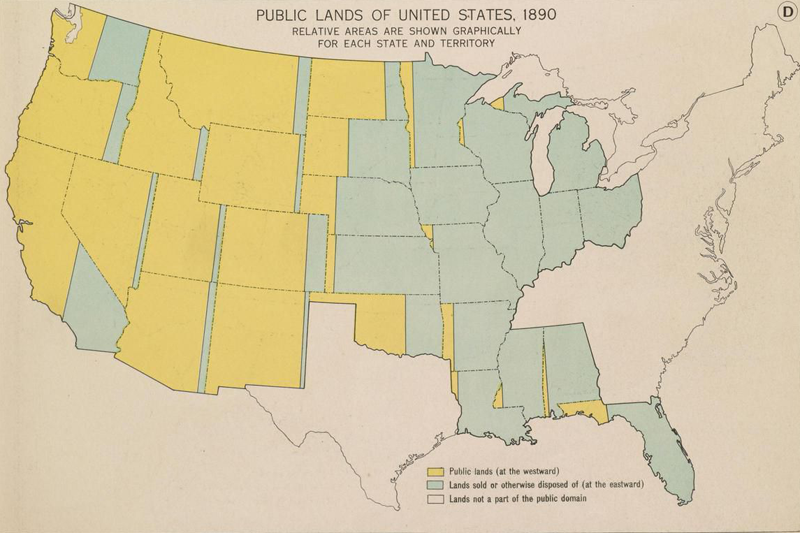 Public Lands of the United States, 1890
