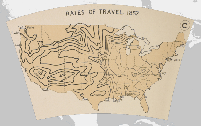 Rates of Travel, 1857