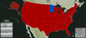 Presidential Elections - Us election map 1984